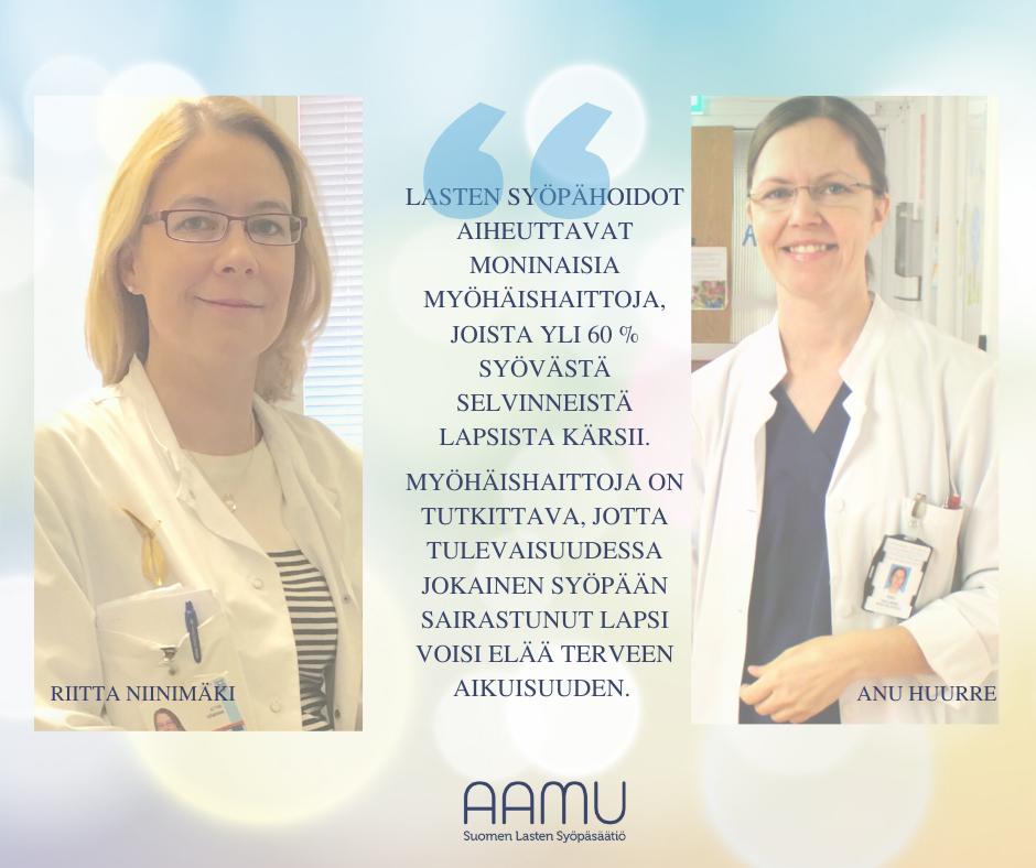 Lymfaattisen leukemian myöhäishaittojen tutkimiseen 60 000 euron apuraha